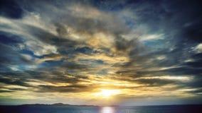 Overzeese zonsondergang Royalty-vrije Stock Afbeeldingen