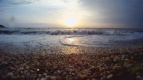 Overzeese zonsondergang HD stock videobeelden