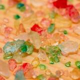 Overzeese zoute kristallen op de Raad royalty-vrije stock fotografie