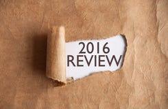 2016 Overzicht Royalty-vrije Stock Foto's