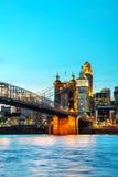 Overzicht het van de binnenstad van Cincinnati Royalty-vrije Stock Afbeelding