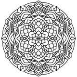 Overzicht Mandala voor het kleuren van boek Royalty-vrije Stock Foto
