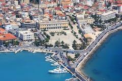 Overzicht op het eiland van Zakynthos Stock Foto's