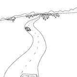 Overzicht van Auto's op Weg royalty-vrije illustratie