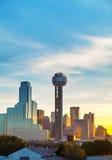 Overzicht van Dallas van de binnenstad stock afbeelding