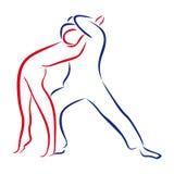 Overzicht van dansende paren Stock Afbeelding