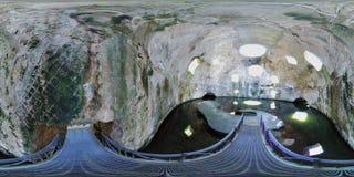 overzicht 360 van de Tempel van Mercury in Baia royalty-vrije stock afbeelding