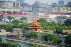 Overzicht van de verboden stad in Peking, China royalty-vrije stock afbeeldingen