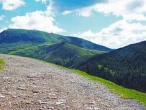 Overzicht van de Zuiden Tiroolse bergen Stock Fotografie