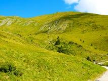 Overzicht van de Zuiden Tiroolse bergen Stock Afbeeldingen