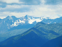 Overzicht van de Zuiden Tiroolse bergen Stock Foto's