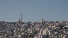 Overzicht van een Arabische stad in Israël stock footage