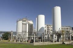 Overzicht van een industriële faciliteit Stock Afbeeldingen