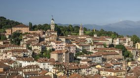 Overzicht van het historische centrum van Saluzzo Royalty-vrije Stock Afbeelding