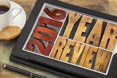 Overzicht van het jaarbanner van 2016 Royalty-vrije Stock Afbeelding