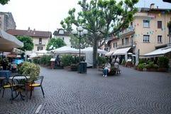 Overzicht van het mooie stadsvierkant van Stresa Royalty-vrije Stock Foto