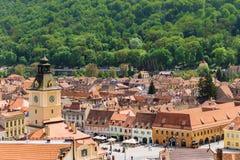 Overzicht van het Oude Centrum van Brasov royalty-vrije stock foto