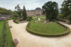 Overzicht van het Park achter de Woonplaats van Wurzburg Stock Fotografie