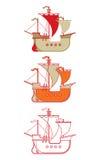 Overzicht van historische caravel Stock Foto's