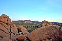 Overzicht van Joshua Tree National Park bij Zonsondergang, de V.S. Stock Afbeelding