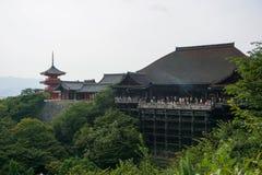 Overzicht van kiyomizu-Dera stock foto's