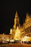 Overzicht van Marienplatz in München Royalty-vrije Stock Afbeelding