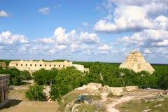 Overzicht van mayan plaats Stock Foto's