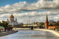 Overzicht van Moskou van de binnenstad Royalty-vrije Stock Afbeeldingen