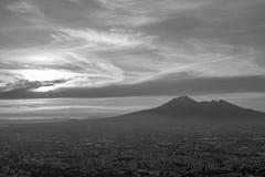 Overzicht van Napels en de zijn Vesuvius royalty-vrije stock afbeelding
