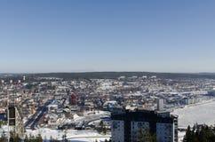 Overzicht van ornskoldsvikstad Stock Foto's