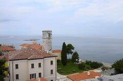 Overzicht van Porec-stad in Kroatië Stock Fotografie