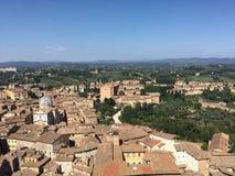 Overzicht van Siena Stock Foto's