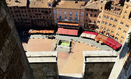 Overzicht van Siena Square stock foto