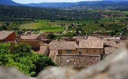 Overzicht van stad in de Provence Stock Fotografie
