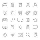 Overzichts bedrijfs grijze pictogrammen vectorreeks Moderne minimalistic stijl Deel Twee Royalty-vrije Stock Fotografie