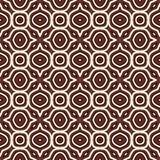 Overzichts etnische abstracte achtergrond Naadloos patroon met symmetrisch geometrisch ornament Vector illustratie royalty-vrije illustratie