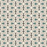 Overzichts naadloos patroon met abstract ornament Etnisch motief Herhaald geometrisch cijfersbehang Moderne oppervlakte Stock Illustratie