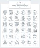 Overzichtspictogrammen van Zaken en Financiën Vector Illustratie
