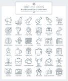 Overzichtspictogrammen Zaken en Marketing Vector Illustratie