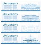 Overzichtsreeks universitaire studiebanners Royalty-vrije Stock Foto's