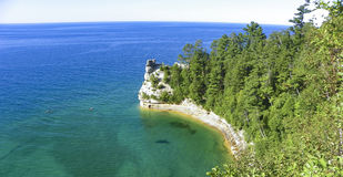 OVERZIE BIJ MUNISING, MICHIGAN Royalty-vrije Stock Fotografie