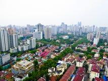 Overzie de Woonplaatsgemeenschap van Shanghai stock fotografie