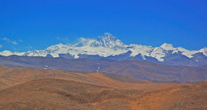 Overzie Lhotse en Everest royalty-vrije stock foto's