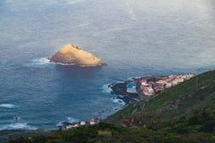 Overzie op Garachico stad, Tenerife stock foto