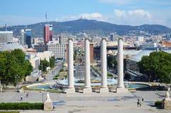 Overzie van Barcelona Royalty-vrije Stock Afbeelding