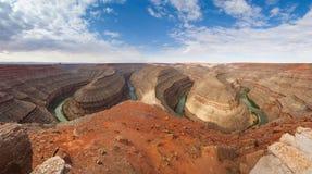 Overzie van Goosenecks het Park van de Staat in Utah royalty-vrije stock foto
