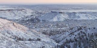 Overzie van Gouden Colorado Stock Afbeeldingen