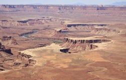 Overziet de Canyonlands Groene Rivier Royalty-vrije Stock Foto