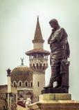 Ovidiu's Statue and Mosque of Constanta Stock Image