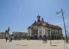 Ovidiu Square with  National History and Archeology Museum in the Old Town of Constanta. CONSTANTA COUNTY, ROMANIA ,EUROPE - APRIL 24, 2015. Ovidiu Square with Stock Photos